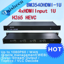 H.265 HEVC MPEG-4 AVC/H.264 4in1 HDMI Video Encoder HDMI Transmitter live Broadcast encoder H264 encoder