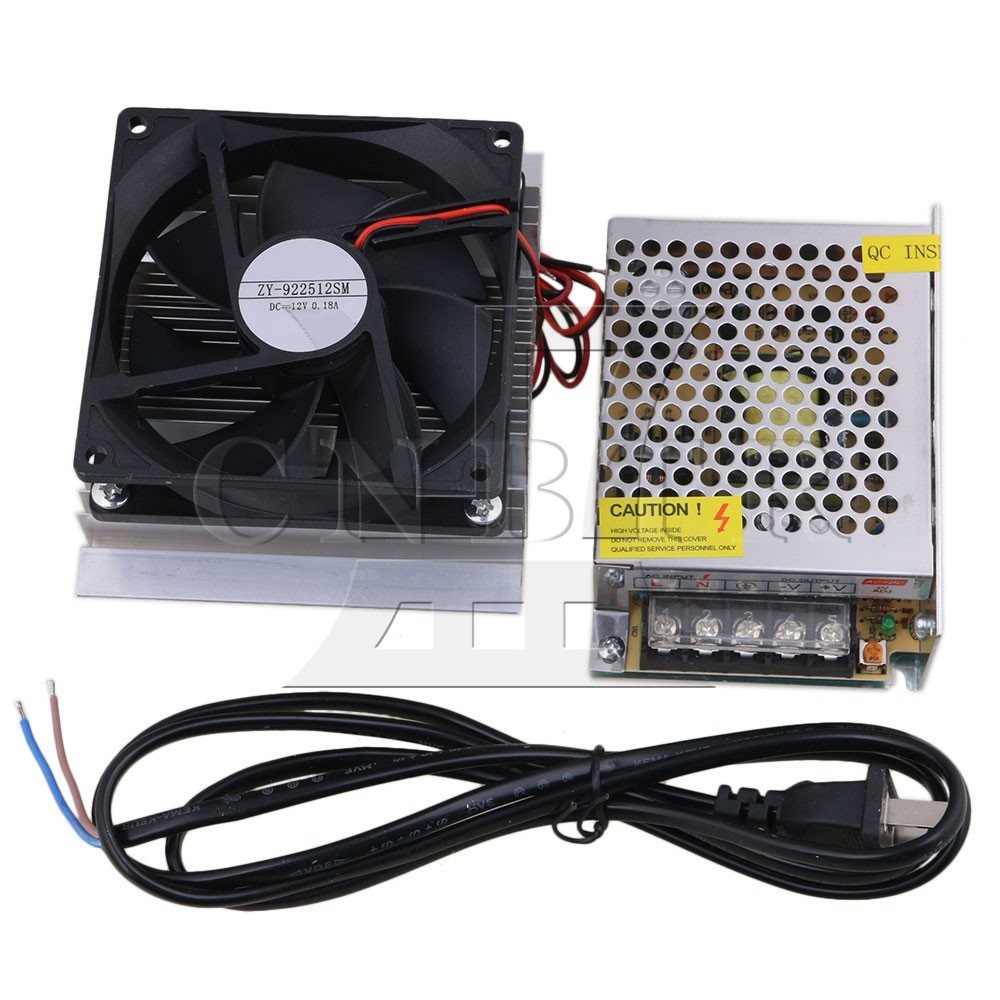 CNBTR DC12V 60W Thermoelectric Peltier Refrigeration Cooling System Kit Cooler Fan with Power Supply DIY <br>