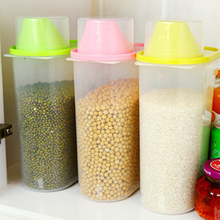 2 Size Sealed Cans Tank Plastic Food Storage Box Grain Container Kitchen Fresh Accessories Organizador Kitchen Tools HG0150