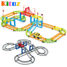 Kitoz Magical Slot With Car Colorful Buildable Assembly Mini DIY Race Track Court Racetrack Auto Toy for Boy Children Not Glow