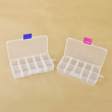 10 Slots Cosmetic Adjustable Jewelry Necklace Clear Make Up Storage Box Organizador Case Holder Craft Makeup Organizer Tools(China)