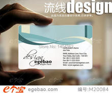 Plastic Bussiness Card one sided printing business cards visit card printing clear transparent PVC Business Card NO.2131