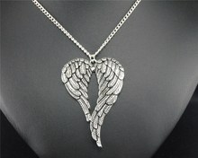 1pc Big Wings Metal Alloy Pendant Necklace Angle Wings Charm Fashion DIY Handmade Jewelry Gift For Women E424