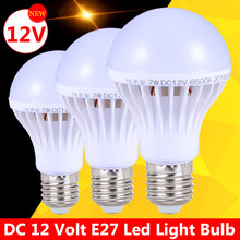 Ampoules Led E27 Light Bulbs 3W 5W DC 12V Energy Saving Lamp Bombillas Led E27 12 Volt 7W 9W Outdoor Light Lampadas Led 12W 15W(China)