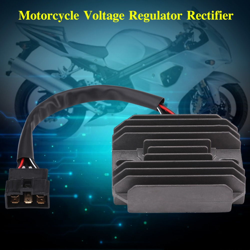 Motorcycle Voltage Stabilizer Motorcycle Dc Three-Phase Voltage Stabilizer 6 Thread Double Plug Full Voltage Stabilizer Fit for GY6 125cc 150cc