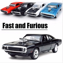 1:32 Scale Fast and Furious Model Car Alloy Charger Pull Back Toy Cars Diecast Kids Toys Collection(China)