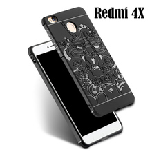 Redmi 4X case,Unique Design Dragon Airbag Protection Soft Rubber Silicone Cover for Xiaomi Redmi 4X Shockproof Dustproof Case