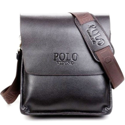 2016  new designers POLO VIDENG brand PU leather black brown quality mens messenger shoulder handbag bags briefcase VP-1<br><br>Aliexpress