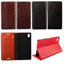 For Sony Xperia M4 Aqua Cases Wallet Cover Genuine Leather Phone Bag Mobile Accessory For Sony Xperia M4 Aqua Cases Cover Fundas(China)