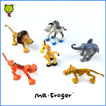 Mr.Froger Chibi Cute Animal Toy Wild animals toys Zoo modeling plastic Solid 6 piece figurine collection Wonderful Natural World