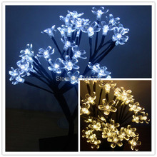 Luz De LED Christmas Cherry Tree Lamps Holiday Night Lights Luminaria Table Lamps Garland for Home Festival Decoration(China)
