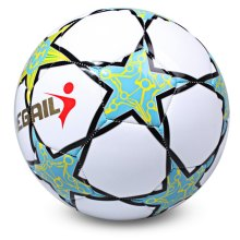 2017 Hot Sale Soccer Ball Regail Five-pointed Star PU White Synthetic Leather Football For Younger Teenager Game Training