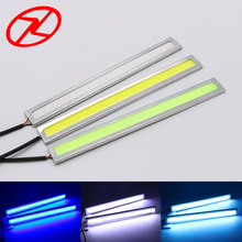 2pcs Car styling Ultra thin  COB LED Waterproof DRL Daytime Running Lights white Blue/Ice Blue Daylight 3W 14 cm Length