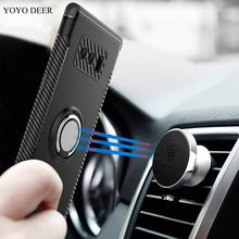 YOYO DEER Hybrid Case For Samsung Galaxy Note 8 Car Magnetic Holder Shockproof Cover For Samsung Note 8 Note8 Phone Cases(China)