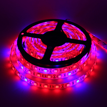 5m/lot LED Grow Lights DC12V Growing LED Strip Tape 5050 IP65 Plant Growth Light Lamp for Greenhouse Hydroponic plant