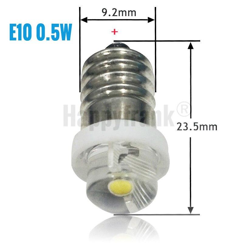 0.5//1//3W 3V-24V LED Flashlight Replace Bulbs P13.5S Torch Lantern Camp Work Lamp