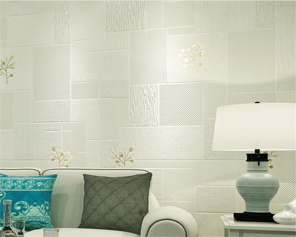 Beibehang behang Modern Simple Pastoral Nonwovens 3d Wallpaper Mosaic Foam leaves Living Room Bedroom wallpaper for walls 3 d<br>