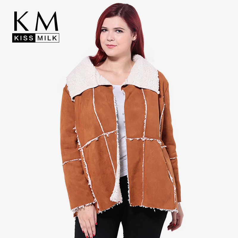 Detail Feedback Questions about Kissmilk 2018 Women Plus Size Big Large  Size 3XL 4XL 5XL 6XL New Fashion Worsted Casual Loose Long Sleeve Coats  Jacket on ... a7f8705cf9bb