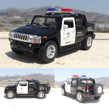 New H2 SUT Police 1:40 Alloy Diecast Model Toy Car With Pull Back Collection As Gift For Boy Childs