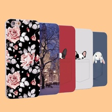 Russia Luxury Flower Skin Cover Cat For iPhone 3GS 4 4S Promotional Discounts Cartoon Case For iPhone 5 5S SE 5C 6 6S 7 Plus