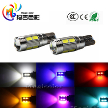 Car Auto LED T10 194 501 W5W Canbus Error Free 10 smd 5630 LED Light Bulb No error led light parking T10 LED Car Side Light(China)