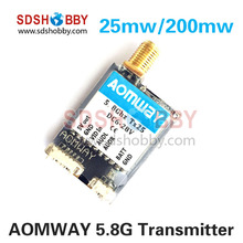 AOMWAY 5.8G 25mw/200mw Exchangeable Transmitter FPV AV Wireless Transmitter CE Certificated
