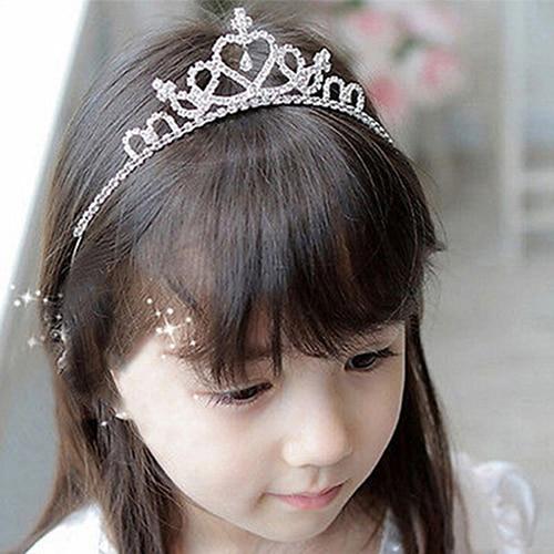 Kid Girls Elegant Heart Rhinestone Embedded Bridal Princess Tiara Crown Headband<br><br>Aliexpress