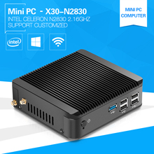 XCY Celeron Mini PC N2830 N2810 DUAL CORE 2.16GHz 4G Ram Windows Linux Micro Computer Office 2*USB 3.0(China)