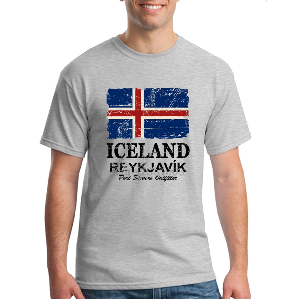 Design t shirts and sell online - Iceland Flag Design Mens T Shirts Man T Shirt Mens Tees Promotion Online T Shirts Hombre