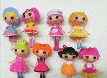 8pcs/set 8cm Mini Lalaloopsy Doll  The Bulk Button Eeyes Toys Action Figures Toy For Girl Classic Toys Brinquedos