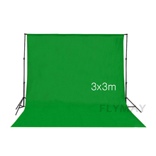 3x3m Photography Background Green Screen 100% Cotton Muslin Chroma Key Photographic Backdrop for Studio Photo Props