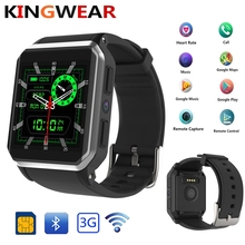Kingwear Kw06 ОС Android 5.1 Смарт-часы Электроника android 1.39 дюймов MTK6580 SmartWatch Phone Support 3G Wi-Fi Nano SIM WCDMA(China)
