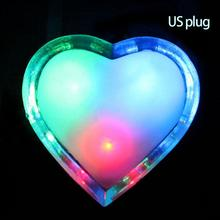 Night Led Light Butterfly Heart Apple Carton Shape Lamp Colorful Lighting Energy Saving KTV Bar Lampada Led