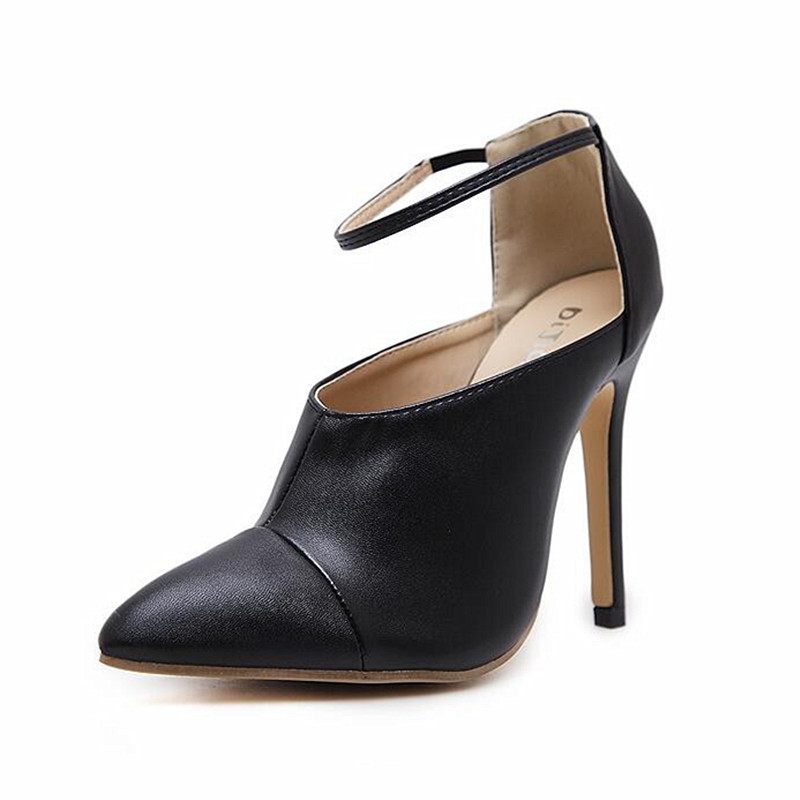 2018 Italy spring New shoes Woman Vogue Street beat Nightclub style Pointed toe Sandals Sexy Shallow Ankle Strap Women Pumps <br>