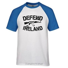 DEFEND IRELAND AK47 RIFLE IRISH MILITARY HOOLIGAN soccerer PRO GUN T-SHIRT TEE man ringer t(China)
