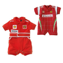 Baby Rompers Racing Suit Red Car Clothes Children Newborn Rompers For Kids New Baby Boys Short Sleeve Clothing V49