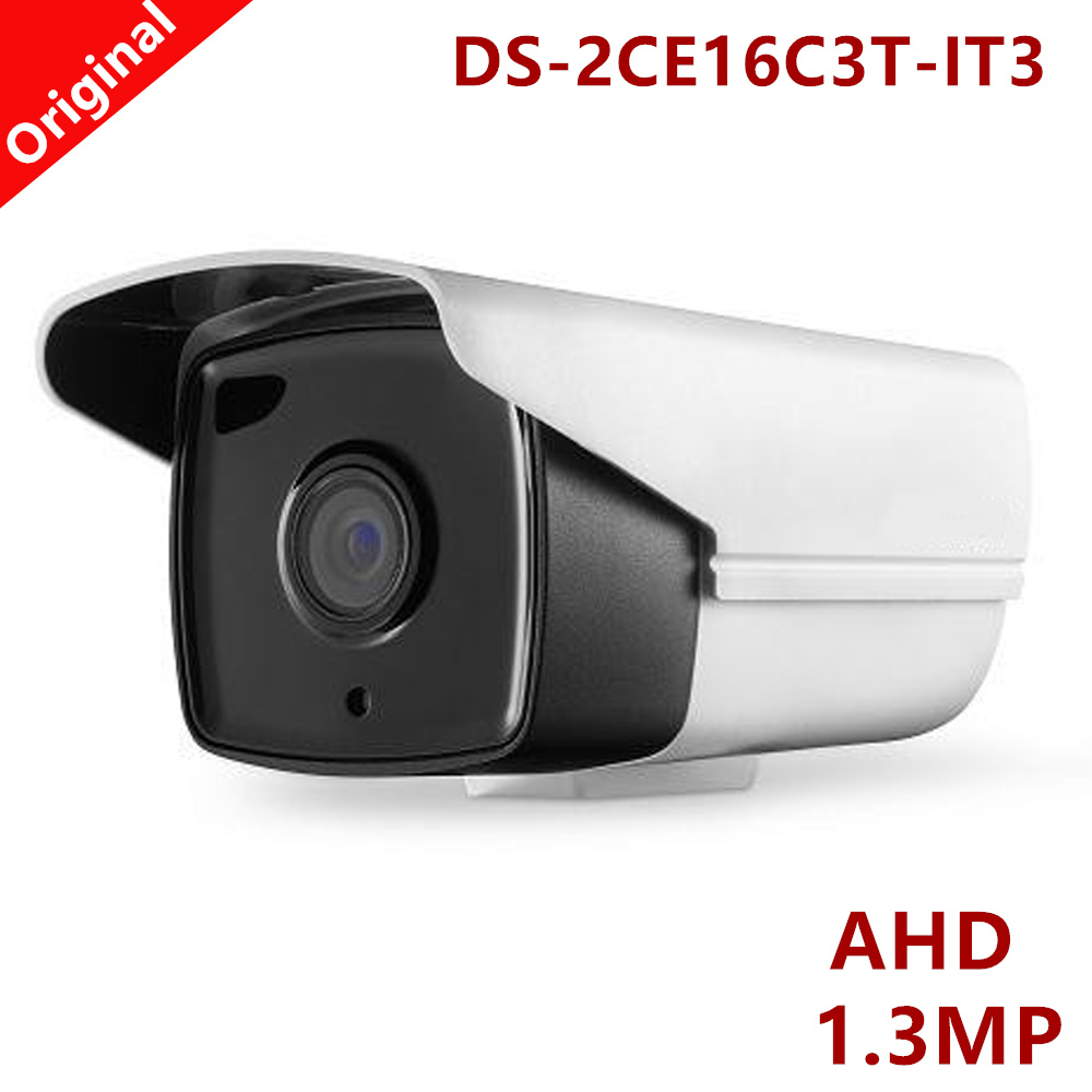 Newest Bullet AHD Camera 1.3MP 720P Waterproof IP66 Smart IR distance 40m CCTV Camera for Home Survillance DS-2CE16C3T-IT3 <br>