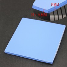 1PCS Gdstime 100x100x5mm 100mm Heatsink Blue Thermal Conductive Paste Compound Silicone Pad Pads(China)