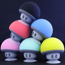 Portable Wireless Bluetooth V4.0 Speaker 3W Stereo audio sound Cute Cartoon Mushroom Style Speaker For Mobile Phones(China)