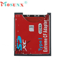 Hot-sale Mosunx WiFi SD SDHC SDXC To CF Type I Compact Flash Memory Card Adapter Reader For 8M~256GB Memory Card 1 pc