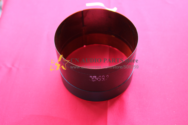 "1 piece ID: 99.2mm 3 7/8"" 4"" Flat aluminum wire 8 ohm woofer bass loudspeaker speaker voice coil(China (Mainland))"