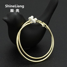 2017 DJ exaggerated big earrings For women trendsetter nightclub female ear clip without piercing Gold Silver Fashion jewelry