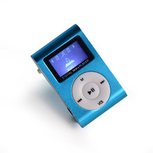 mini clip  mp3 player with screen music machine TF card slot music player mp3 player with cable cord and earphone
