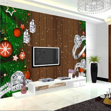 Christmas Decorations For Home Christmas Ball Diamond Ring Wooden Wall Carvings for Restaurant Study Kitchen TV Background(China)