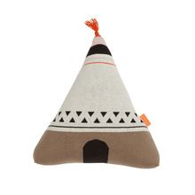 Cute Baby Cushion Knit Stuffed Toys Bed Decoration Teepees Style Toy PP Cotton Pillow Home Sofa Decoration Kids Birthday Gift
