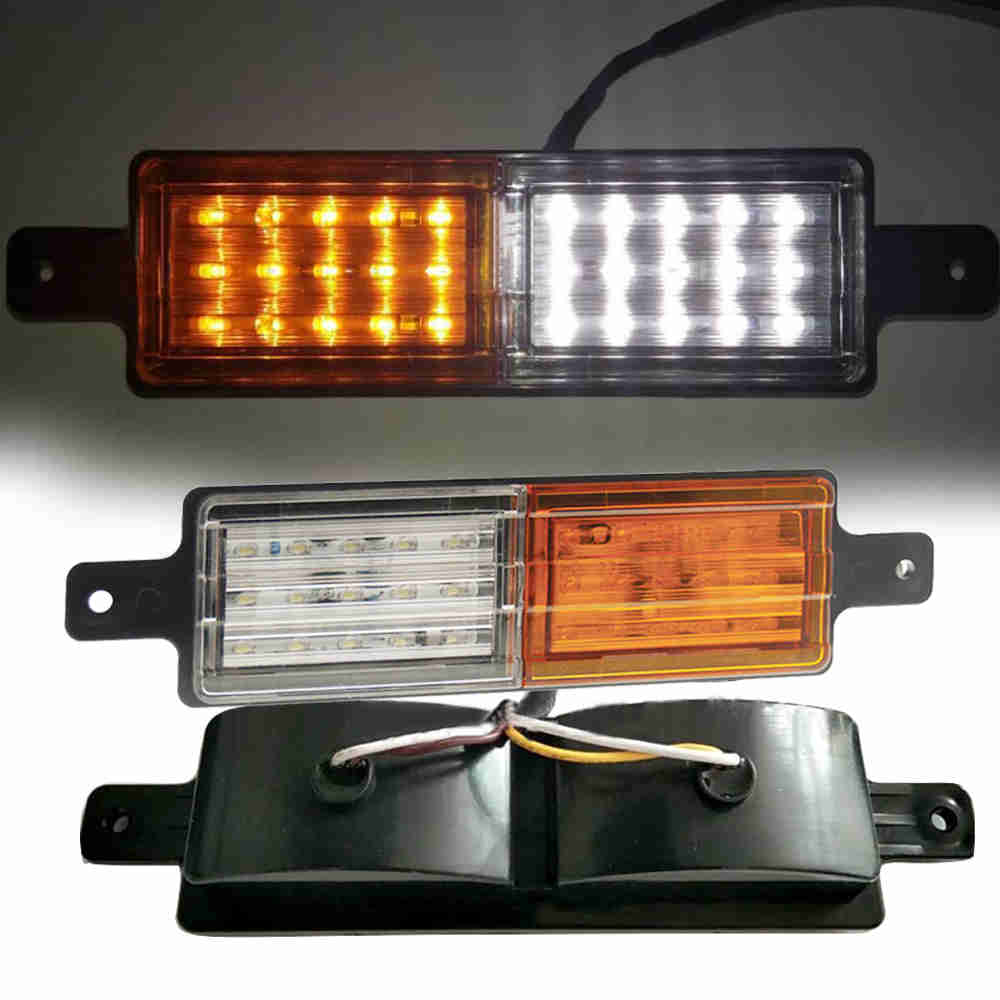 4X LED Amber Side Maker Lights Turn Signal Lamp For Car Truck Trailer Waterproof