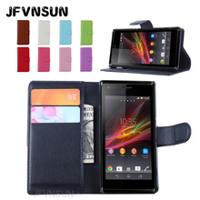 Buy JFVNSUN Case Sony Xperia M dual NEW Fashion Card Holder Magnetic Leather Wallet Stand Phone Bag Flip Cover Sony Xperia M for $3.08 in AliExpress store