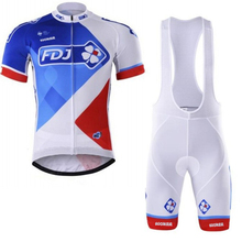 Buy 2017 Pro team FDJ cycling jerseys Bicycle maillot breathable Ropa Ciclismo MTB Short sleeve quick dry bike cloth 3D GEL for $25.39 in AliExpress store