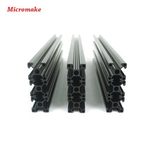 Micromake 3D Printer Parts V-slot Rail Aluminum Profile Extrusion 2020 12pcs/lot Cutted CNC Machine Building Part Holder(China)