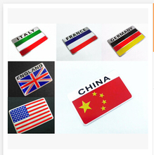 Car-Styling Metal Grille Emblem Badge National Flag Sticker For Acura RLX CL EL CSX ILX MDX NSX RDX RL SLX TL TSX Vigor ZDX(China)